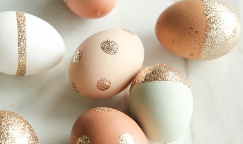 Πασχαλινά αβγά με γκλίτερ!