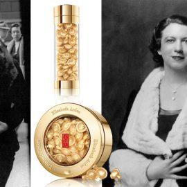 Η Μέριλιν Μονρόε έξω από το Σαλόνι ομορφιάς στη Νέα Υόρκη, μία ανάμεσα στις διάσημες πελάτισσές της Arden // Η πολυτέλεια και η ποιότητα ήταν πάντα οδηγός, Ceramides Capsules για το πρόσωπο και τα μάτια // Η Elizabeth Arden γύρω στο 1930, όταν παρά το Κραχ, η εταιρεία της έκανε αστρονομικά κέρδη!