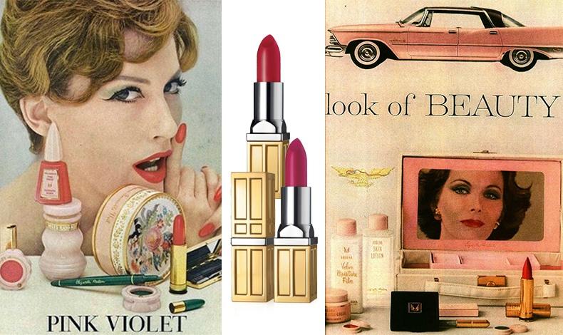Διαφήμιση του 1950, Elizabeth Arden Pink Violet, όταν είχε δημιουργήσει το