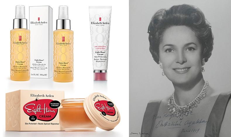 Από το χθες... στο σήμερα, από την πρώτη επαναστατική κρέμα του 1930 Eight Hour Cream, στη σημερινή εξέλιξη! Ένα θαυματουργό βάλσαμο που περιποιείται χέρια, χείλη, τις άκρες των μαλλιών, κατάλληλη ακόμη και για μωρά Eight Hour Cream All-Over Miracle Oil ή σε σωληνάριο