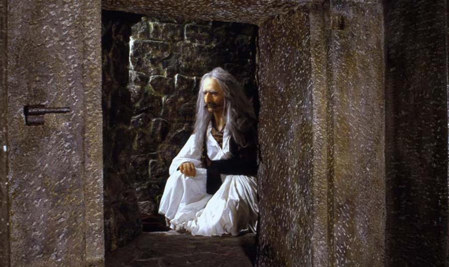Κέρινο ομοίωμα του Θεόδωρου Κολοκοτρώνη στη φυλακή του Ναυπλίου