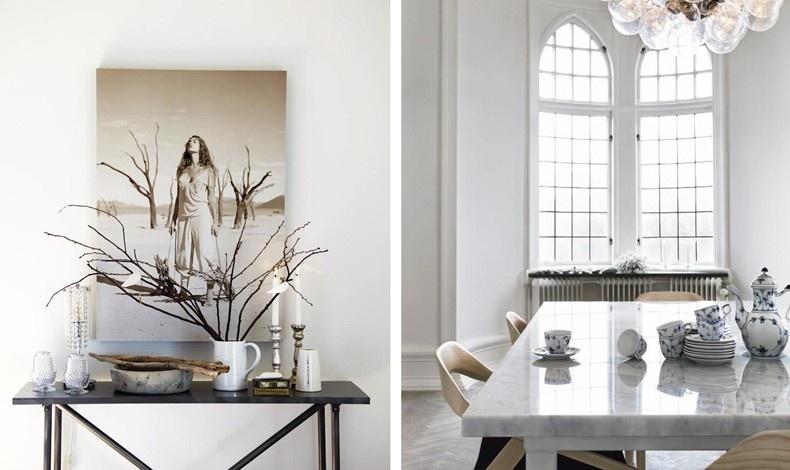 Ένα έργο τέχνης αναδεικνύεται σε λευκό φόντο // Λευκό, μαύρο και πορσελάνες για ένα πιο κλασικό ύφος