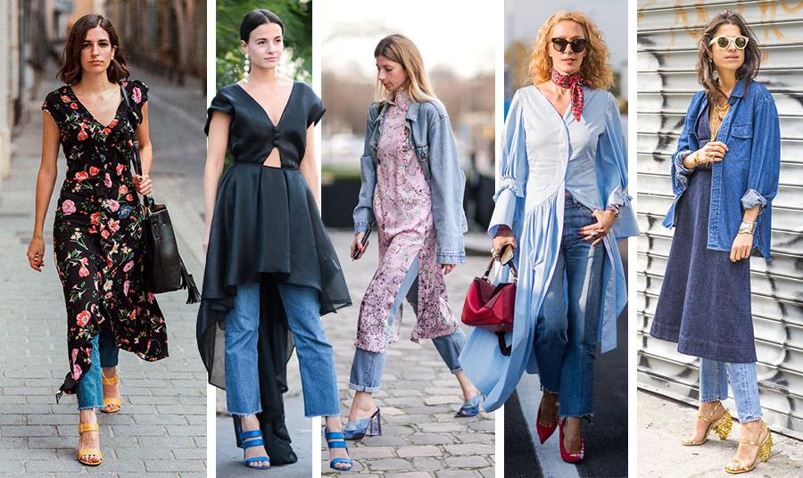 Μακρύ ή κοντό, ανάλαφρο ή με γεωμετρικές γραμμές, το φόρεμα πάνω από το τζιν σας είναι μία μοντέρνα επιλογή. Αν μάλιστα το φόρεμα είναι φλοράλ έχετε δύο τάσεις σε μία!