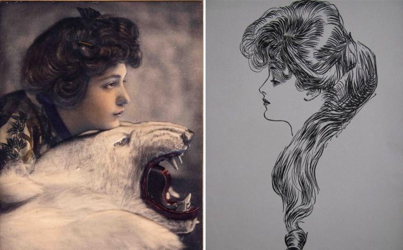 Φωτογραφημένη από τον Rudolf Eickemeyer, Jr. (©Shields Collection) // Όταν ο Charles Dana Gibson, ο illustrator του διάσημου Gibson Girls, ζωγράφισε την Evelyn ως το