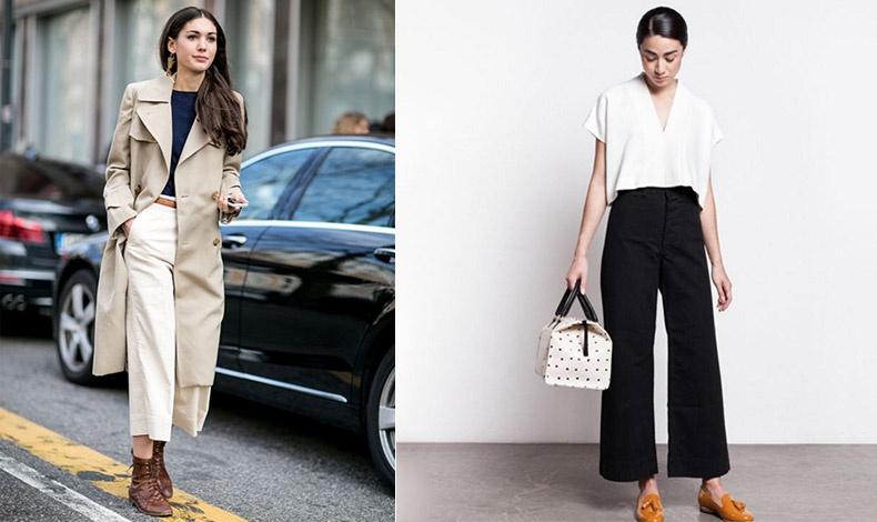 Φορέστε τα φαρδιά παντελόνια με μποτίνια ή με απλά ίσια loafers για κομψή και άνετη εμφάνιση και στο γραφείο