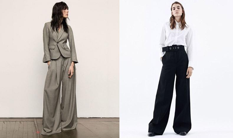 Ένα υπερμεγέθες φαρδύ παντελόνι συνδυασμένο με το ίδιο σακάκι, μία διαφορετική εκδοχή του κουστουμιού // Με ένα απλό λευκό πουκάμισο και ζώνη για όλη μέρα