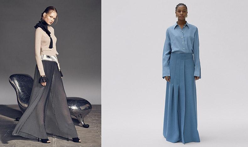 Κομψότητα σε υπερθετικό βαθμό! Διακριτική διαφάνεια στο μεταξωτό παντελόνι με ένα απλό λεπτό πουλόβερ // Μinimal chic σε αποχρώσεις του γαλάζιου από τη φθινοπωρινή συλλογή, Celine