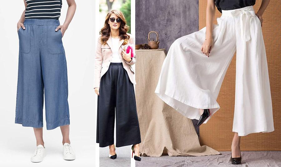 Αν δεν θέλετε παντελόνι, μπορείτε να στραφείτε σε μία φαρδιά παντελόνα. Με ένα κατάλληλο τοπ και τα ανάλογα αξεσουάρ είναι κατάλληλη και για τις επαγγελματικές σας υποχρεώσεις