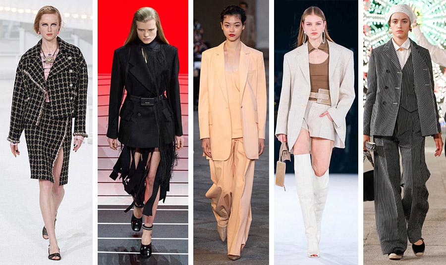 Το ανδρικό σακάκι αλλά σε πιο φαρδιά έως υπερμεγέθη γραμμή είναι μία από τις νέες τάσεις: Chanel // Prada // Max Mara // Jacquemus // Dior