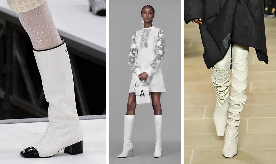 Οι λευκές μπότες γίνονται το νέο φετίχ! Chanel // Andrew Gn // Proenza Schouler