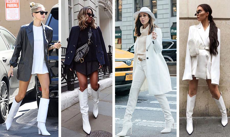 Οι λευκές μπότες είναι ήδη στην πρώτη γραμμή της χειμωνιάτικης μόδας!