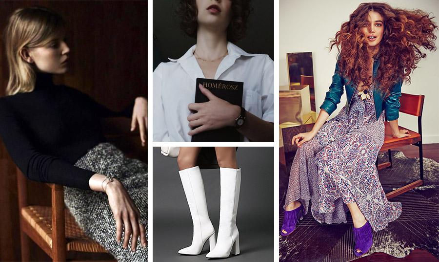 Τουίντ και μαύρο ζιβάγκο σηματοδοτούν το «κολεγιακό στιλ» που αναβιώνει με φόρα, τα λευκά πουκάμισα και οι λευκές μπότες θα μας συνοδέψουν όλη τη χρονιά, ενώ τα εμπριμέ των 70s θα κατακλύσουν την γκαρνταρόμπα μας