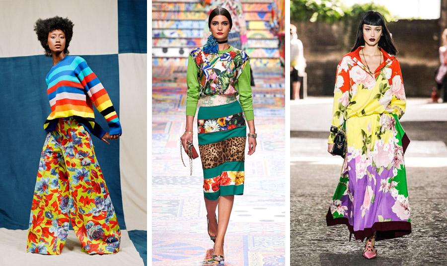 Μία πρώτη γεύση από το στιλ της δεκαετίας του '70 για την ερχόμενη άνοιξη από τους μεγάλους οίκους μόδας: Christopher John Rogers // Dolce&Gabbana// Valentino