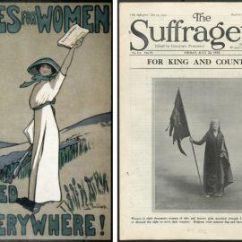 Αφίσα για το δικαίωμα των γυναικών στην ψήφο // Το φεμινιστικό περιοδικό The Suffragette από το 1915
