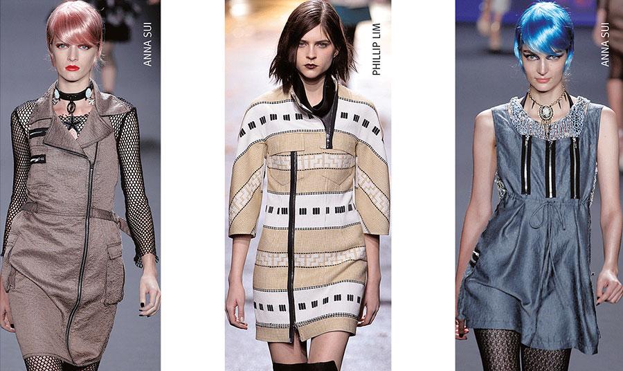Όταν το φερμουάρ χρησιμοποιείται πλέον στον κόσμο της μόδας ως διακοσμητικό στοιχείο στα ρούχα από παλαιότερες συλλογές Anna Sui // Philip Lim // Anna Sui