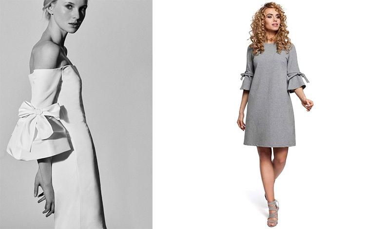 Ακόμη κι ένα εξαιρετικά λιτό φόρεμα μπορεί να αποκτήσει ένα χαριτωμένο και θηλυκό λουκ με φιόγκους στα μανίκια