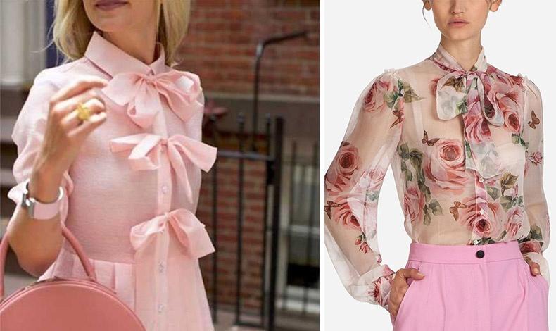 Προσθέστε σε ένα  shirt dress φιογκάκια στα κουμπιά του // Φλοράλ πουκάμισο με φιόγκο, Dolce&Gabbana