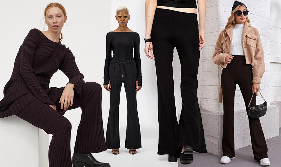 Το αιώνιο μαύρο, δεν λείπει από τις επιλογές μας! Μαύρο ριμπ σετ από την ανοιξιάτικη συλλογή Η&Μ // Σε καμπάνα γραμμή που μπορεί να φορεθεί όλες τις ώρες, Black Etape // Φορέστε το με ένα απλό μαύρο μπλουζάκι ή με τα αθλητικά σας και ένα κοντό σακάκι μπουκλέ