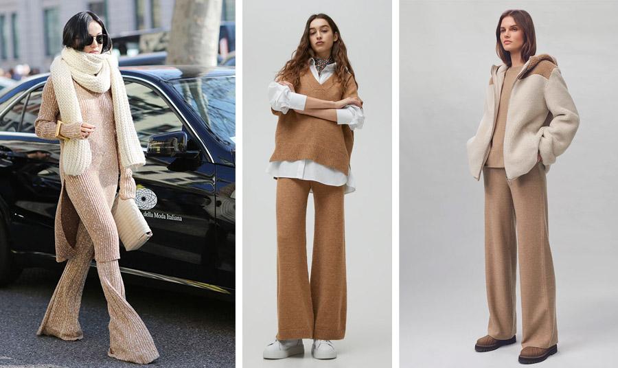 Οι γήινοι τόνοι είναι πολύ της μόδας και μάλιστα σε μονοχρωμία // Σε χυτή γραμμή με ασορτί γιλέκο και λευκό πουκάμισο, Pull&Bear // Η πολυτέλεια της απαλότητας σε ένα σύνολο, Loro Piana