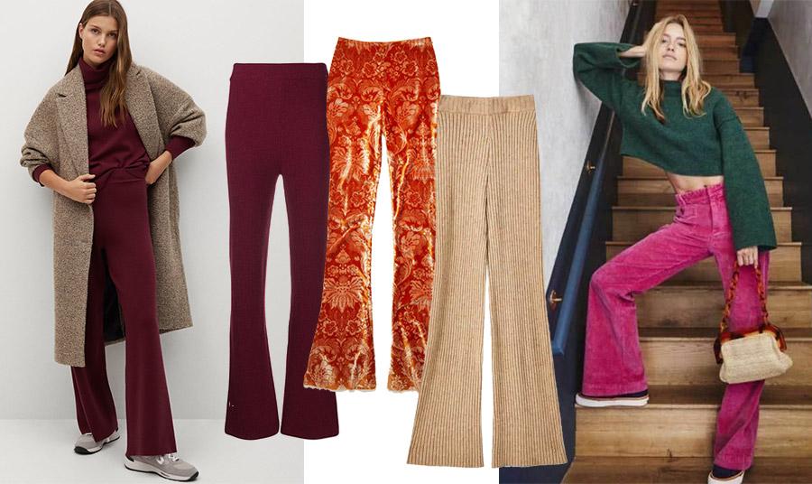 Τι λέτε για χρώμα; Φορέστε ένα σκούρο μπορντό με το παλτό σας όσο κάνει ακόμη κρύο, Mango // Σε μπορντό καμπάνα με ριμπ πλέξη από βαμβάκι, Nanushka // Με ψυχεδελικά φλοράλ από βελούδο σενίλ στο πορτοκαλί της σκουριάς, Acne Studios // Μπεζ ριμπ, Pull&Bear // Σε φούξια και μάλιστα από μαλακό κοτλέ