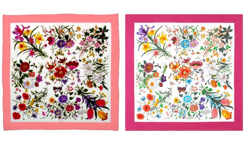 Το κλασικό print Flora του οίκου Gucci έχει αναπαραχθεί σε διάφορους χρωματικούς συνδυασμούς