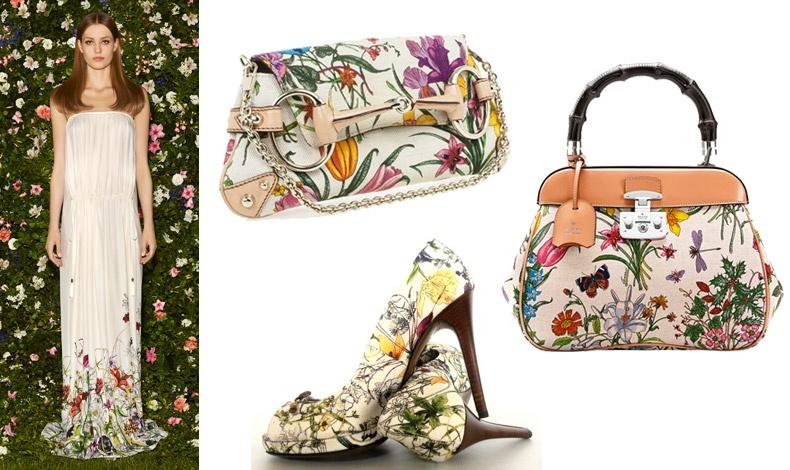 Το Flora γοητεύει σε φορέματα, τσάντες και παπούτσια