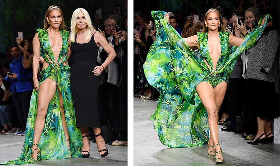H μοναδική εμφάνιση με το θρυλικό φόρεμα! Η Τζένιφερ Λόπεζ στην επίδειξη μόδας Versace για την άνοιξη-καλοκαίρι 2020