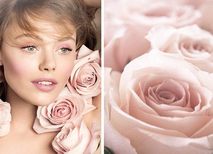 Μια ζωηρή σκιά σε ροζ απόχρωση και μερικές στρώσεις μάσκαρα στις πάνω βλεφαρίδες, για ένα look που αναδεικνύει τον νέο-ρομαντισμό