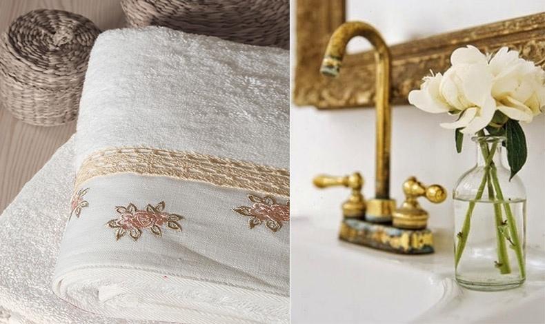 Χαρίστε στο μπάνιο σας κομψότητα με απαλές πετσέτες κεντημένες με χαριτωμένα τριανταφυλλάκια από τη συλλογή Linen Rose, από 100% βαμβάκι πενιέ, πετσέτα χεριών, 7,50?, πετσέτα προσώπου, 15,00?