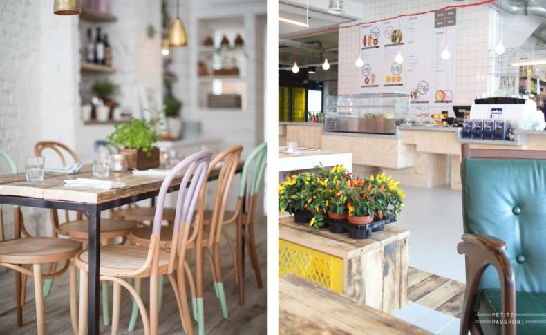 Στα παστέλ χρώματα η κουζίνα και το εστιατόριο
