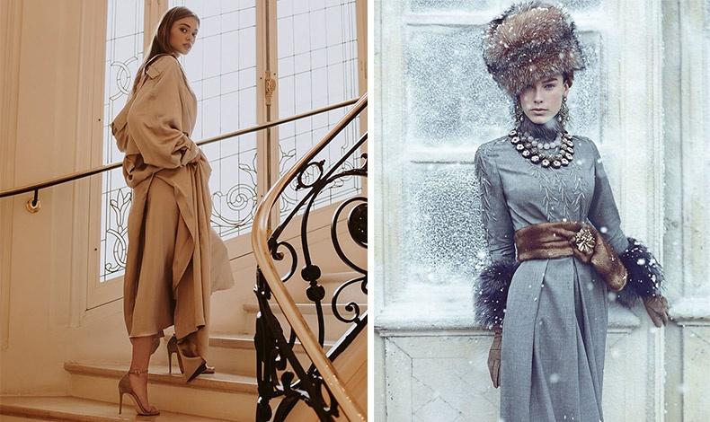 Φορέστε ένα φόρεμα στην ίδια απόχρωση με το παλτό σας // Μην τσιγκουνευτείτε τα αξεσουάρ!