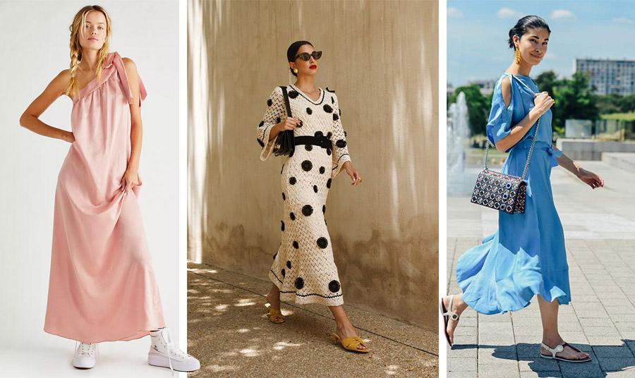 Φορέστε το φόρεμά σας με sneakers, ίσια τσόκαρα ή πέδιλα για άνεση όλη την άνοιξη και το καλοκαίρι