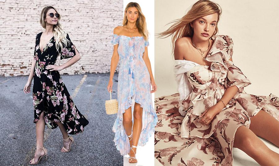 Τα floral φορέματα σε κάθε μήκος και στιλ είναι πάντοτε επίκαιρα