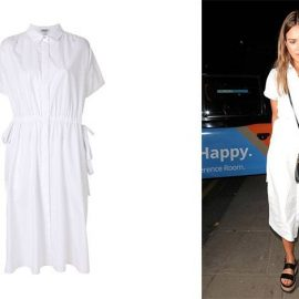 Ένα λευκό shirt dress, όπως της Τζέσικα Άλμπα, φοριέται με χίλιους δυο τρόπους και είναι πάντοτε επίκαιρο