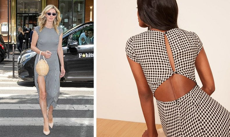 Επιλέξτε ένα κομψό μίντι φόρεμα με κλασικό μαυρόασπρο καρό, όπως το φόρεμα της Νίκι Χίλτον και δεν θα χρειαστεί να το αφήσετε στην ντουλάπα ως ντεμοντέ