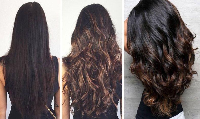 Μπορείτε να τονίσετε τα σκούρα μαλλιά σας με την τεχνική του μπαλαγιάζ ή με ρεφλέ, επιλέγοντας π.χ. μια ζεστή σοκολατένια ή σκούρα κεχριμπαρένια απόχρωση