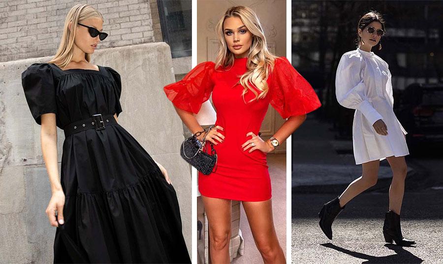 Μαύρο, κόκκινο ή λευκό; Τα φορέματα με όγκους στα μανίκια είναι πολύ εντυπωσιακά και ανάλογα με τη γραμμή και το ύφασμά τους μπορούν να φορεθούν παντού!