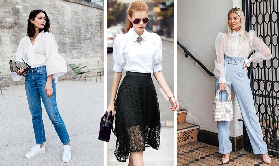 Ανάλογα με το στιλ, το ύφασμα και τη γραμμή του ένα πουκάμισο με φουσκωτά μανίκια μπορεί να σας συνοδέψει σε κάθε περίσταση