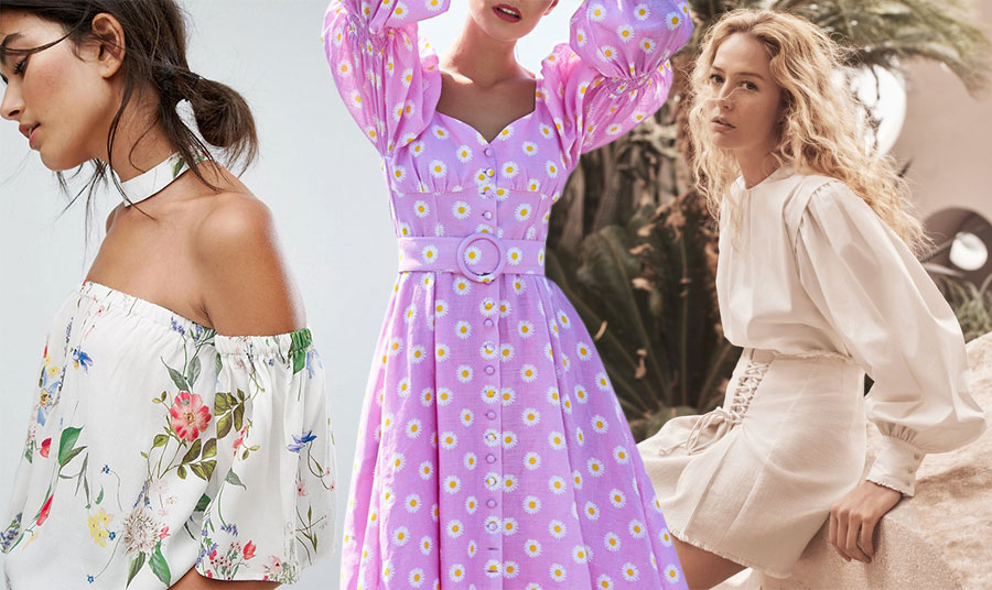 Φλοράλ σε μπλούζα ή φόρεμα με πιο «ήσυχα» ή πιο εντυπωσιακά φουσκωτά μανίκια είναι τάση // Φορέστε μία κρεμ μπλούζα ή πουκάμισο με μία ίσια μίνι ή μίντι φούστα στην ίδια απόχρωση!