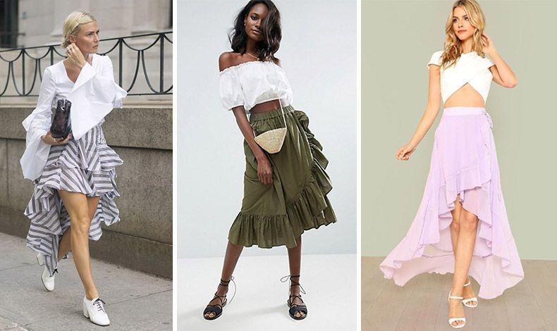 Φορέστε την σε μίνι, μίντι ή μάξι μήκος με κάθε είδους τοπ της μόδας: από ένα πουκάμισο με εντυπωσιακά μανίκια, ένα έξωμο μπλουζάκι ή ένα κρουαζέ που αφήνει ακάλυπτη την κοιλιά και τη μέση