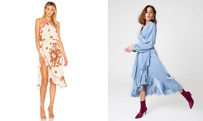 Εξίσου κομψά είναι και τα φορέματα με το ανάλογο κόψιμο