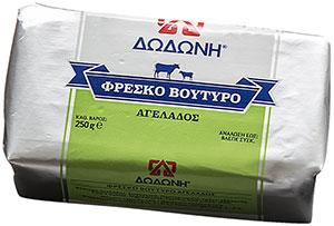 αγελαδινό βούτυρο παρασκευάζεται από 100% φρέσκο, παστεριωμένο αγελαδινό γάλα ΔΩΔΩΝΗ χωρίς συντηρητικά