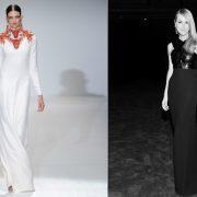 Υπέρκομψη με τη μακριά μαύρη τουλέτα της «συναγωνίζεται» τη λευκή δημιουργία της, για την άνοιξη του 2013