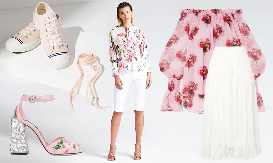 Tο φετινό μυστικό της μόδας είναι το fusion. Τα ροζ sneakers με μία μακριά λευκή φούστα και φλοράλ ρομαντικό τοπ, αλλά και ένα μακρύ σορτς τύπου ποδηλάτη και πάλι συνδυασμένο με φλοράλ και ψηλοτάκουνα πέδιλα! Φορέστε τα όπως σας ταιριάζει καλύτερα!