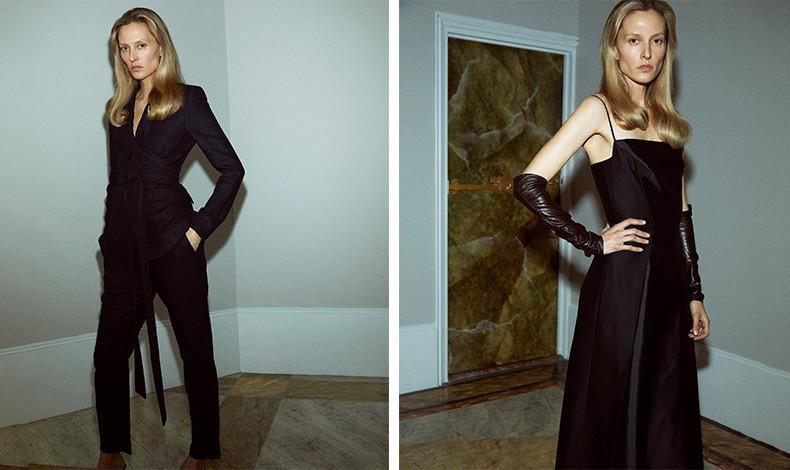 Η Gabriela Hearst φορώντας δικές της δημιουργίες φωτογραφημένη στο σπίτι της στη Νέα Υόρκη