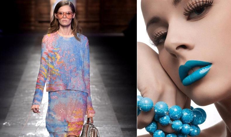 Τα χρώματα της χρονιάς είναι γαλήνια, ρομαντικά, σχεδόν παραμυθένια. Aπό τα ρούχα και τα κοσμήματα, το γαλάζιο μεταναστεύει... στα χείλη μας!