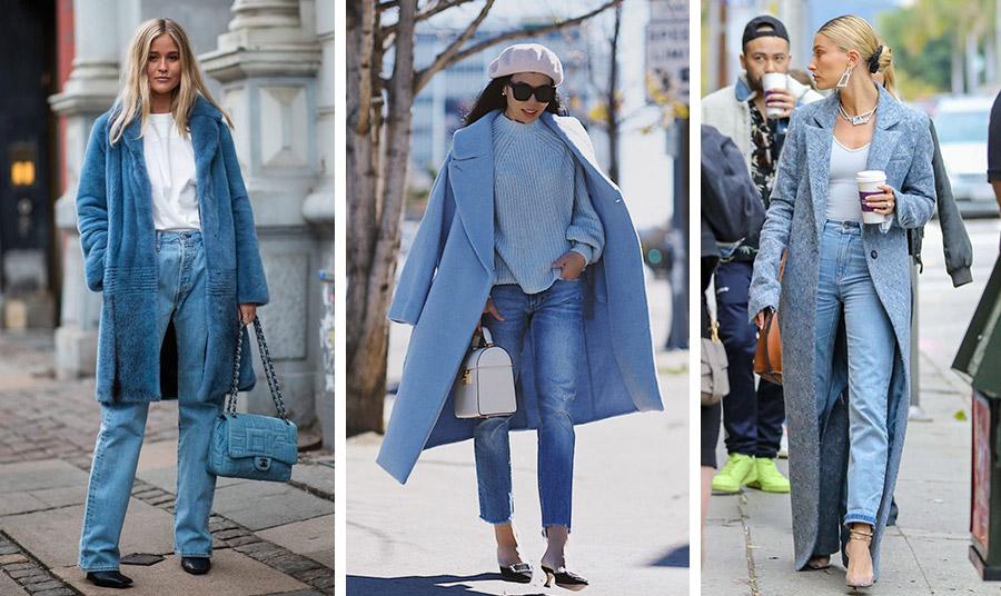 Μία γούνινη εκδοχή του γαλάζιου παλτό με τζιν και λευκό T-shirt δίνει μία άλλη νότα σε ένα καθημερινό λουκ // Με ένα γαλάζιο πουλόβερ και τον απαραίτητο μπερέ… και είστε απόλυτα στη μόδα! // Και φυσικά το μάξι! Φορέστε το μάξι γαλάζιο παλτό με τζιν, γόβες και εντυπωσιακά κοσμήματα και πηγαίνετε… παντού!
