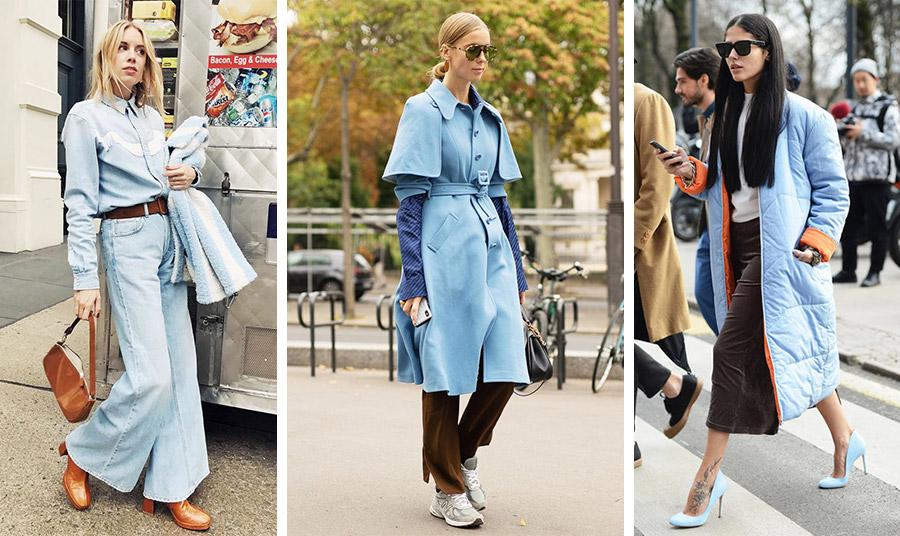 Ο απόλυτος χρωματικός συνδυασμός της μόδας: γαλάζιο με τόνους του καφέ. Εντυπωσιακός και κομψός, δεν περνά απαρατήρητος!