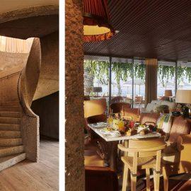 Μασίφ ξύλο, ακατέργαστο ξύλο, χειροποίητα μπαμπού είναι μερικά από τα υλικά που χρησιμοποιήθηκαν από τον διάσημο αρχιτέκτονα
