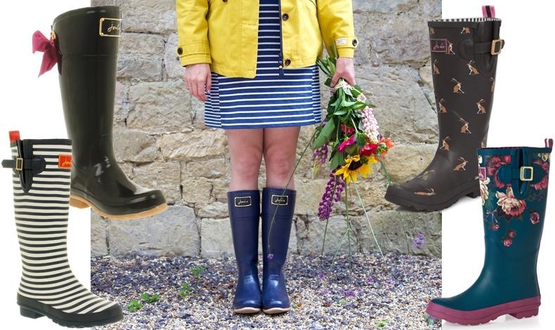Μπότες της βρετανικής εταιρείας Joules, η χαριτωμένη θηλυκότητα βρήκε θέση και στις γαλότσες!